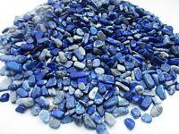 LAPIS LAZULI Afghanistan 5-15mm tumbled chips xmini-xsmall 1/2 lb bulk stones