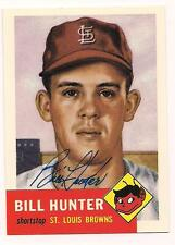 1953 Topps Archives(1991) Auto Bill Hunter St. Louis Browns