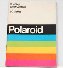 Polaroid OneStep BC Series Land SX-70 Film Camera Owner's Manual Instructions
