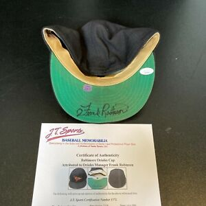 Frank Robinson Signed 1990 Baltimore Orioles Game Used Hat JSA & J.T. Sports COA