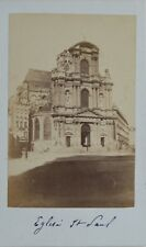 Église Saint-Paul Paris Carte de visite Cdv Photo Vintage Albumine