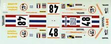 FERRARI 365 GTB4 DAYTONA N°48 MIGNOTT LE MANS 1975 DECALS 1/43