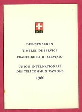 1960 PTT BOOKLET #37  Internationale Des Telecommunications 24 x 1960