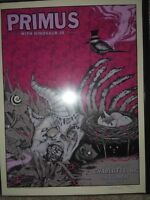 Primus poster by Dave Corriea for Charlotte NC show with Dinosaur Jr. Zoltron,