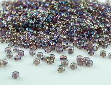 1600 Stk. Perlen in Rocailles aus Glas Durchsichtig 2mm Kristall 20g Ca