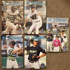 2019 Everett Aquasox Complete 5 Programs Seattle Mariners Single A