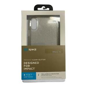 Speck  Presidio Clear + Glitter Case For iPhone XR (6.1inch) Clear Gold Glitter