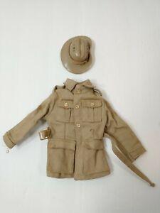VINTAGE GI JOE SOTW AUSTRALIAN JUNGLE FIGHTER JACKET & HAT Missing Rank Patches