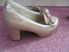 new cape myrtle champagne pink bow front patent leather cout shoes size 5
