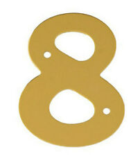 2'' Gold Anodised Numeral 8