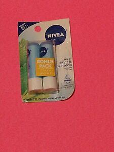NIVEA 2 Pack - NIVEA Mint & Minerals Lip Care 0.17 oz