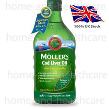 MOLLER'S Mollers Fish Oil OMEGA-3 -NATURAL FLAVOUR/Taste-Children Adults Elderly