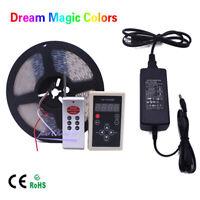 5M Chasing Dream Magic Color RGB 5050 WS2811 IC LED Strip Light + Remote + Power