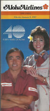 Aloha Airlines system timetable 1/8/87 [8041]