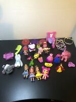 girls toy lot Disney Princess Belle Ariel assorted jewelry tiara Pets,