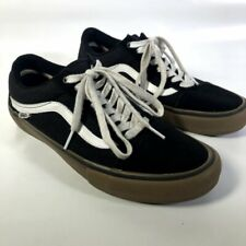 VANS Black Suede White Canvas Skateboard Pro # 508357 Shoes Sneakers Men's 9 US