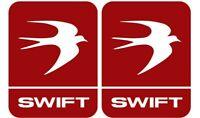 Swift Logo Caravan Sticker/Decal Set - 2 Stickers - Choice of Colours