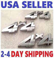 3X Chrome 4X4 EMBLEM 4 X 4 CHEVROLET Car ornament TRUCK DECAL badge logo SIGN 3D