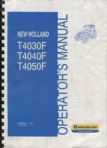 New Holland T4030F T4040F T4050F operator's manual