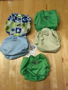 Lot of 5 Rumparooz Newborn Cloth Diaper Cover