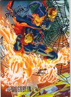 2017 FLEER ULTRA SPIDER-MAN SILVER PARALLEL CARD #53 HOBGOBLIN