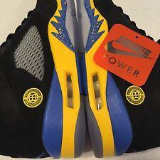 NEW Nike Air Jordan Retro V 5 Shanghai Shen sz 7 136027-089 Black Blue Yellow