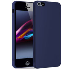 SDTEK Matte Case for iPhone SE / 5 / 5s Soft Cover (Navy)