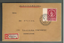 1944 Amsterdam Holland Registered Cover to Wilthen Germany Dienstpost