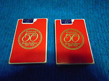 2 VTG Decks Aviation Playing Cards Delta Airlines 1979 Celebrating 50 years Red