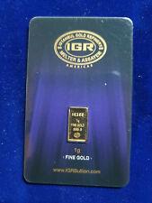🔥 1 gram GoldGram Fine Gold 999.9 Certificate Istanbul Refinery IGR w/ serial