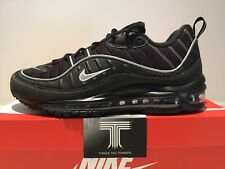 "Nike Air Max 98 ""Black/Silver"" ~ 640744 013 ~ Uk Size 9"