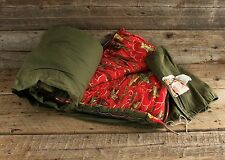 Vintage Coleman Sleeping Bag w Ducks Pattern Lining
