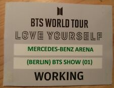 BTS World Tour - Love Yourself Berlin 16.10.2018 K-pop backstage pass T-shirt