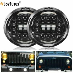 """DOT Pair seal 7"""" Headlights Projector for Toyota Landcruiser 75 78 79 series"""