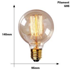 Retro Edison Bulb E27 220V 95G Filament Light Bulb Ampoule Vintage Edison Bulb