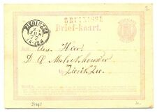 NED  EGYPT LANGST = BRUINISSE = ROOD 1872   BRIEFKAART     PR EX