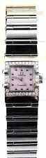 AUTHENTIC OMEGA CONSTELLATION 1537.73 LADIES PINK QUADRA DIAMOND STEEL WATCH