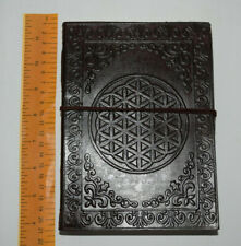 Leather Book Hand crafted shadows spells Journal Keepsake spell Flower of life