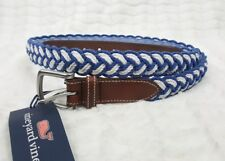 NWT BRAND NEW VINEYARD VINES MEN MOONSHINE BLUE BRAIDED ROPE BELT SZ 44