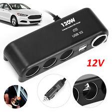 12V Multi Car Cigarette Lighter Socket Splitter Dual USB Power Charger Adapter