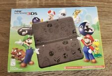 Nintendo NEW 3DS Mario Black Limited Edition BOX & INSERTS ONLY
