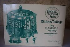 Dept 56  OLD GLOBE THEATRE set of 4 - Dickens Series NIB  #58501   (716B)