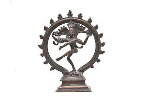 Shiva Nataraja Lord of the Dance Bronze statue Antique Figure Hindu sculpture