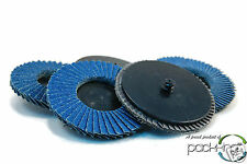 "5pk 3"" inch Roloc Type R Assorted Grit Flap Sanding Disc Wheels 40 60 80 120 180"