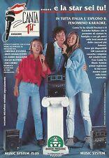X2780 Karaoke CANTA TU - Giochi Preziosi - Pubblicità 1992 - Advertising