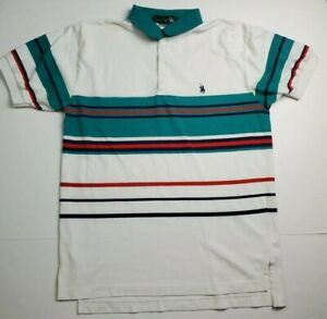 Vintage Kings Court Rugby Short Sleeve Polo Shirt Colorblock Men's Size Medium