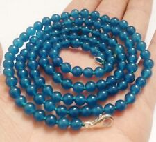 "LONG 36"" 8mm Apatite Gemstones Round Beads Fashion Necklace JN124"