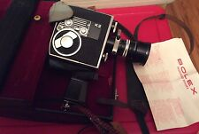 Vintage Bolex K2 Kern-Paillard Lenses 8mm Movie Camera Access. Case Switzerland