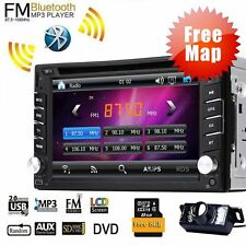 Double 2DIN In Dash GPS Navi Car DVD Player Bluetooth Auto Stereo Radio Free Map