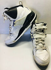 Air Jordan Flight 45 High White Varsity Purple Size 12. Basketball Shoe.